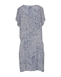 Tommy Hilfiger | Blue Short Dress | Lyst