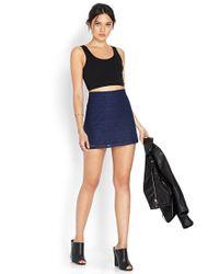 Forever 21 - Blue Ornate Crocheted Skirt - Lyst