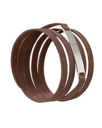Ursul | Le Lacet Parisien Brown Leather Lace-up Bracelet for Men | Lyst