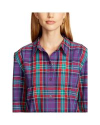 Ralph Lauren | Green Plaid Cotton Shirt | Lyst