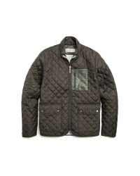Shipley & Halmos Green Dean Quilted Jacket for men