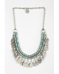 Urban Outfitters | Blue Sogno Bello Coin Necklace | Lyst