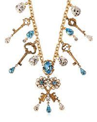Dolce & Gabbana - Metallic Key Charms Necklace - Lyst