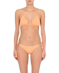 Lazul | Orange Nubia Triangle Bikini Top | Lyst