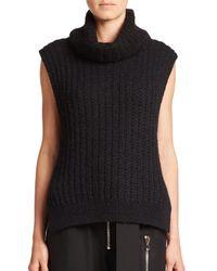 3.1 Phillip Lim - Black Sleeveless Turtleneck Sweater - Lyst