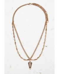 Forever 21 - Metallic Etched Arrow Pendant Necklace - Lyst