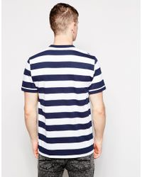 Fred Perry Blue T-shirt With Bold Stripe for men