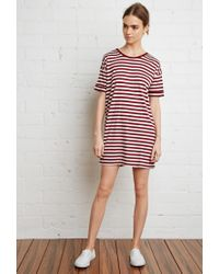 Forever 21 | Purple Striped Tunic | Lyst