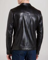 Ted Baker Black Kennit Leather Jacket for men