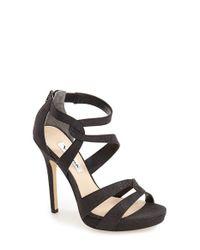 Nina - Black Franzet Platform Sandals - Lyst