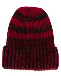 Paul Smith - Red Striped Beanie for Men - Lyst
