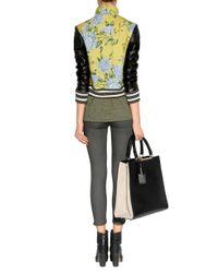 Rag & Bone | Multicolor Cambridge Floralprint Cottonblend and Leather Bomber Jacket | Lyst