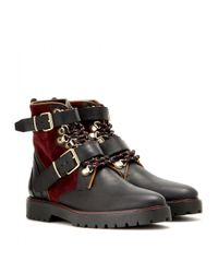 Burberry Brit Multicolor Utterback Leather Ankle Boots
