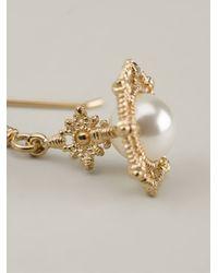 Vivienne Westwood - White 'Isolde' Drop Earrings - Lyst