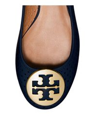 Tory Burch - Blue Reva Perforated Ballet Flat - Lyst