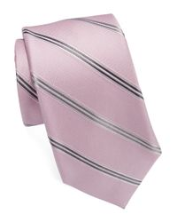 MICHAEL Michael Kors | Pink Striped Silk Tie for Men | Lyst