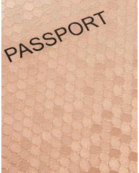 ASOS - Passport Cover in Hexagonal Metallic - Lyst