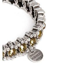 Philippe Audibert | Metallic New Amelia Bead And Crystal Embellished Elasticated Bracelet | Lyst