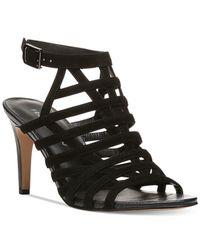 Franco Sarto | Black Spruce Sandals | Lyst