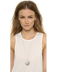 House of Harlow 1960 | Metallic Medallion Locket Necklace - Silver | Lyst