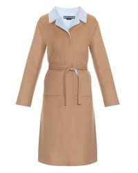 Rochas Natural Double-faced Wool-blend Coat