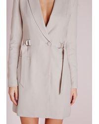 Missguided | Gray D-ring Blazer Dress Grey | Lyst