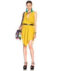 Lanvin - Green Cross Drape Dress - Lyst