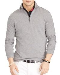Polo Ralph Lauren Gray French Terry Mockneck Pullover for men