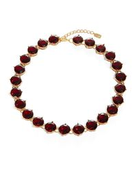 Lauren by Ralph Lauren | Red Garnet Crystal Necklace | Lyst