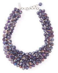 Night Market - Purple 'crystal Rain' Bib Necklace - Lyst