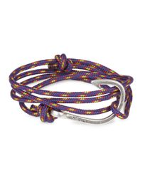 Miansai - Purple Rope Wrap Bracelet for Men - Lyst