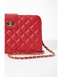 Forever 21 - Red Quilted Faux Leather Convertible Bag You've Been Added To The Waitlist - Lyst