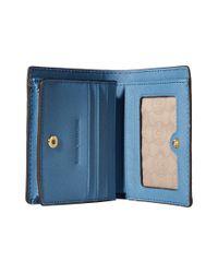 MICHAEL Michael Kors | Blue Jet Set Travel Flap Card Holder | Lyst