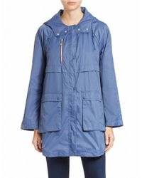 Bernardo | Blue Packable Hooded Anorak | Lyst