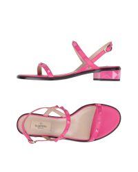 Valentino - Purple Sandals - Lyst