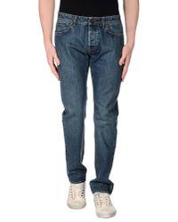 Umit Benan | Blue Denim Trousers for Men | Lyst