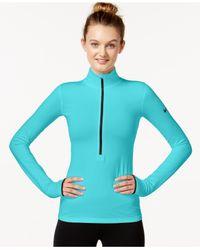 Nike Blue Pro Hyperwarm Half-zip Dri-fit Pullover