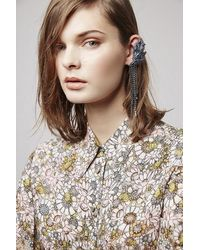 TOPSHOP | Blue Bateman Earrings By Unique | Lyst
