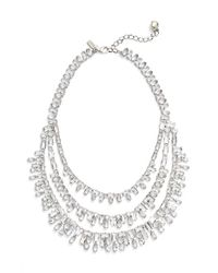 Kate Spade | Metallic 'catching Light' Bib Necklace - Clear | Lyst