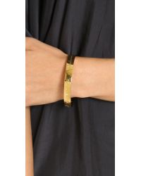 kate spade new york - Metallic Mom Engraved Bangle Bracelet - Gold - Lyst
