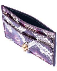 Alexander McQueen   Purple Pink Python Skull Card Holder   Lyst