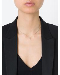 Saint Laurent | Metallic Crucifix Pendant Necklace | Lyst