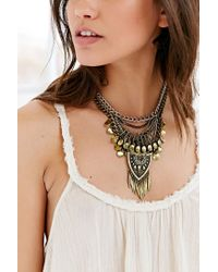 Urban Outfitters - Metallic Traced Travels Fringe Necklace - Lyst