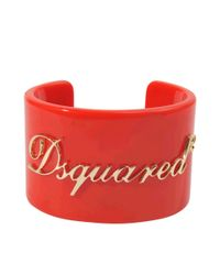 DSquared² | Red Bakelite Cuff | Lyst