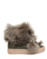 Emilio Pucci | Natural Lamb Fur & Leather Snow Boots | Lyst