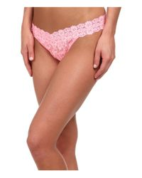 Hanky Panky | Pink Cross-dyed Signature Lace Original Rise Thong | Lyst