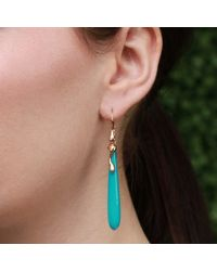 Lucifer Vir Honestus | Blue Turquoise Drop Earrings | Lyst