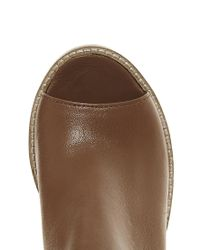 ASOS - Brown Total Leather Shoe Boots - Lyst