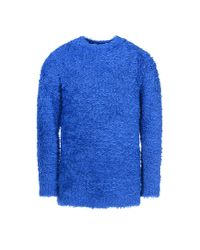 Moschino | Blue Crewneck Sweater for Men | Lyst