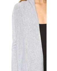 Tess Giberson Gray Drape Cardigan With Back Vent - Marled Grey
